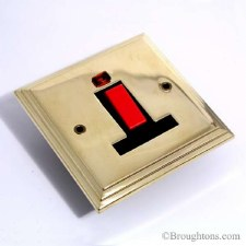 Edwardian Square Cooker Switch Brass