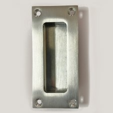 Aston Flush Pull Handle 90mm Satin Chrome