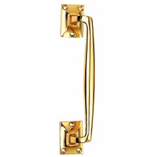 Cranked Pull Handle Polished Brass