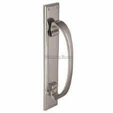 Heritage V1162 Pull Handle on Plate Polished Chrome