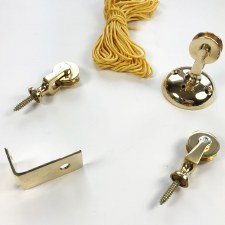 Pulley Set for Butlers Bell Polished Brass Unlacquered