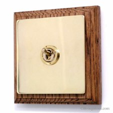 Victorian Intermediate Dolly Switch on Wooden Pattress 1 Gang