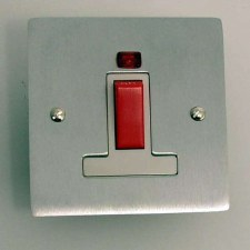 Victorian Square Cooker Switch Satin Chrome