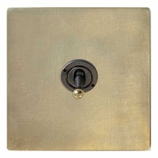 Victorian Dolly Switch 1 Gang Antique Satin Brass