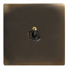 Victorian Dolly Switch 1 Gang Dark Antique Relief