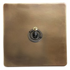 Victorian Dolly Switch 1 Gang Hand Aged Brass