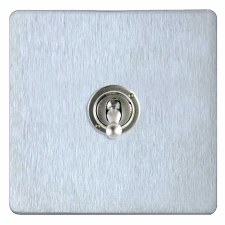 Victorian Dolly Switch 1 Gang Satin Chrome