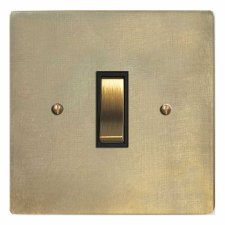 Victorian Rocker Light Switch 1 Gang Antique Satin Brass