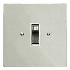 Victorian Rocker Light Switch 1 Gang Polished Nickel