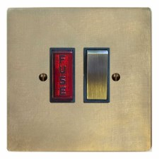 Victorian Switched Fused Spur Illuminated Antique Satin Brass