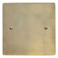 Victorian Single Blank Plate Antique Satin Brass