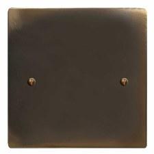 Victorian Single Blank Plate Dark Antique Relief