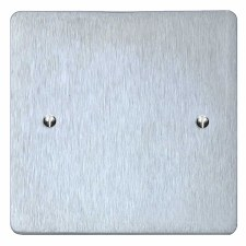 Victorian Single Blank Plate Satin Chrome