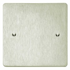 Victorian Single Blank Plate Satin Nickel