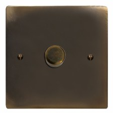 Victorian Dimmer Switch 1 Gang Dark Antique Relief