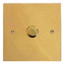 Victorian Dimmer Switch 1 Gang Polished Brass Unlacquered
