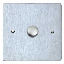 Victorian Dimmer Switch 1 Gang Satin Chrome