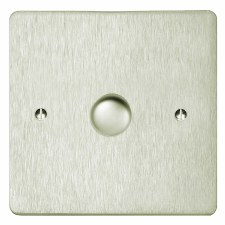 Victorian Dimmer Switch 1 Gang Satin Nickel