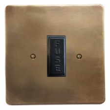 Victorian Fused Spur Connection Unit 13 Amp Hand Aged Brass