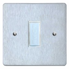 Victorian Fused Spur Connection Unit 13 Amp Satin Chrome & White Trim