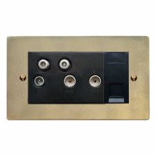 Victorian Sky+ Socket Antique Satin Brass