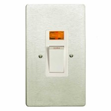 Victorian Vertical Cooker Switch Satin Nickel