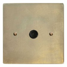 Victorian Flex Outlet Antique Satin Brass