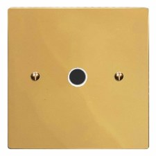 Victorian Flex Outlet Polished Brass Lacquered & White Trim