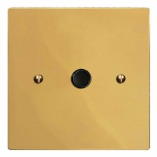 Victorian Flex Outlet Polished Brass Unlacquered