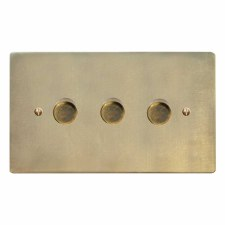 Victorian Dimmer Switch 3 Gang Antique Satin Brass