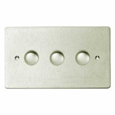 Victorian Dimmer Switch 3 Gang Satin Nickel