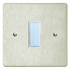 Victorian TV Socket Outlet 2 Gang Satin Nickel