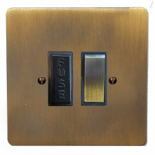 Victorian Switched Fused Spur Antique Brass Lacquered