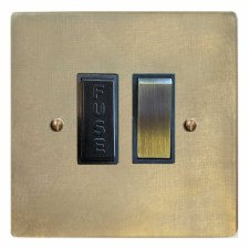 Victorian Switched Fused Spur Antique Satin Brass