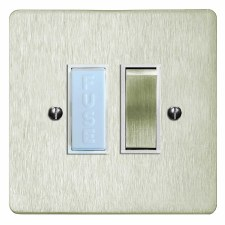 Victorian Switched Fused Spur Satin Nickel