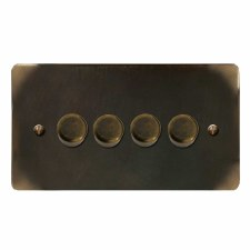 Victorian Dimmer Switch 4 Gang Dark Antique Relief
