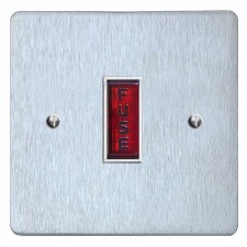 Victorian Fused Spur Connection Unit Illuminated Indicator Satin Chrome & White Trim