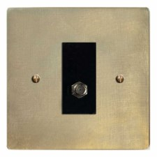 Victorian Satellite Socket Antique Satin Brass