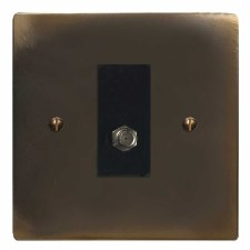 Victorian Satellite Socket Dark Antique Relief