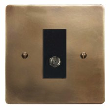 Victorian Satellite Socket Hand Aged Brass