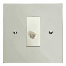Victorian Satellite Socket Polished Nickel