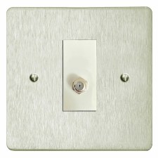 Victorian Satellite Socket Satin Nickel