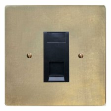Victorian RJ45 Socket CAT 5 Antique Satin Brass