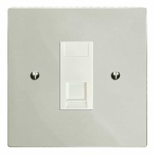 Victorian RJ45 Socket CAT 5 Polished Nickel