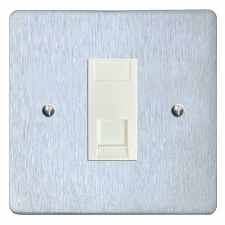 Victorian RJ45 Socket CAT 5 Satin Chrome