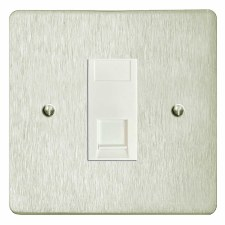 Victorian RJ45 Socket CAT 5 Satin Nickel