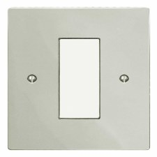 Victorian Plate for Modular Electrical Components 50x25mm Polished Nickel