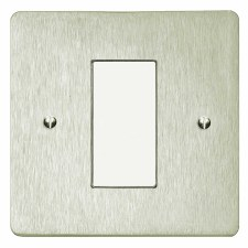 Victorian Plate for Modular Electrical Components 50x25mm Satin Nickel