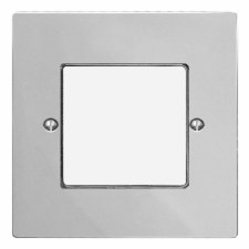 Victorian Plate for Modular Electrical Components 50x50mm Polished Chrome