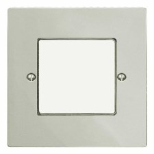 Victorian Plate for Modular Electrical Components 50x50mm Polished Nickel